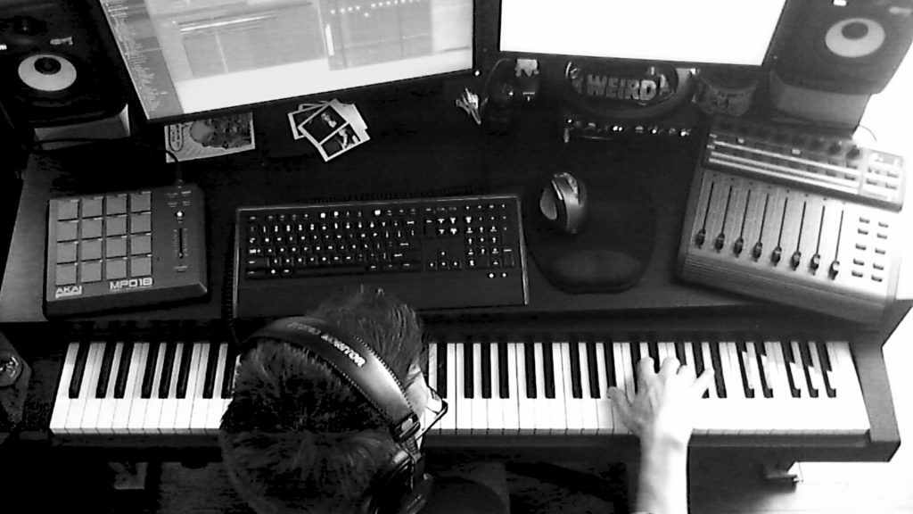 Recording music with a midi controller keyboard