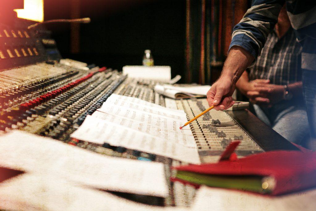 Editing the music score