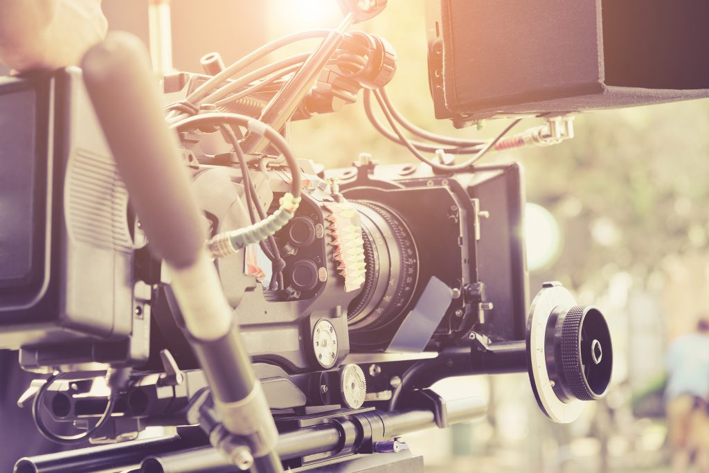 digital cinema camera behind the scenes