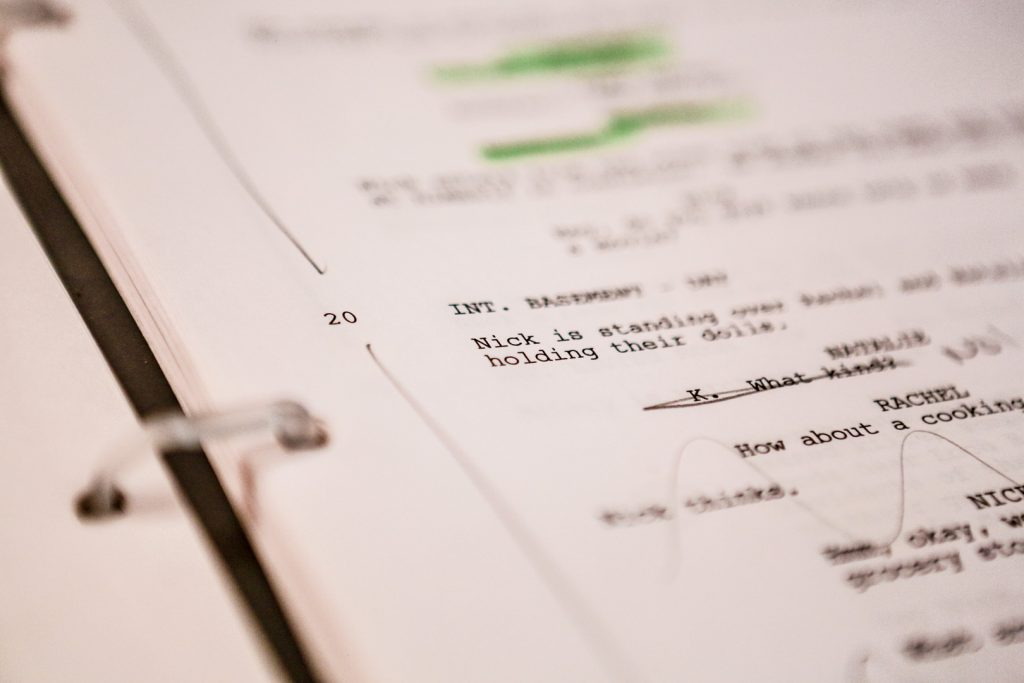 Screenplay snippet