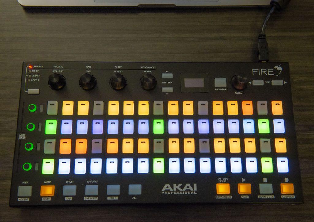 Akai Fire in Keyboard Mode