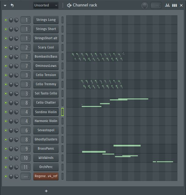 channel strip in FL Studio DAW